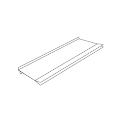 Product Drawing 100 x 230, 4 agrafes Cloison PVC
