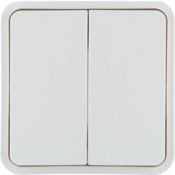 WNT944B 2 touches Cubyko KNX Blanc