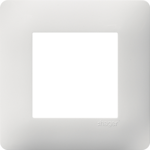 WE401 Plaque 1 poste Essensya Blanc