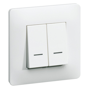 Interrupteur double avec temoin lumineux clairage de la for Changer un interrupteur mural