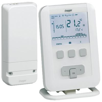 Thermostats d 39 ambiance digitaux - Thermostat programmable sans fil pour chaudiere gaz ...